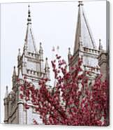 Spring At The Temple Canvas Print