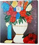 Spring Bouquet In A Vase Canvas Print