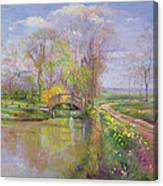 Spring Bridge Canvas Print