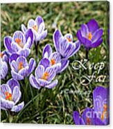 Spring Crocus With Scripture Canvas Print
