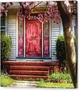 Spring - Door - Westfield Nj - Pink Canvas Print