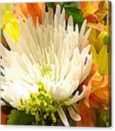 Spring Floral Burst Canvas Print