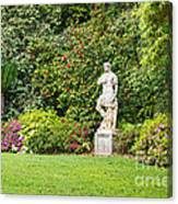 Spring Flower Blooms At The North Vista Lawn Of The Huntington Library. Canvas Print