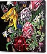 Spring Flower Bouquet Canvas Print