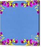 Spring Flower Frame Canvas Print