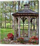 Spring Gazebo Pastel Effect Canvas Print