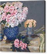 Spring In A Blue Vase Canvas Print