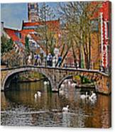 Spring In Bruges Canvas Print