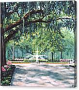 Spring In Forsythe Park Canvas Print
