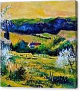 Spring In Matagne  Canvas Print