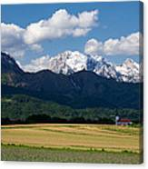 Spring In The Alps Canvas Print