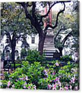 Spring In The Square Canvas Print