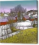 Spring Melt At Jenne Farm Canvas Print