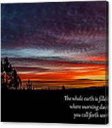 Spring Peaceful Morning Sunrise Bible Verse Photography Canvas Print