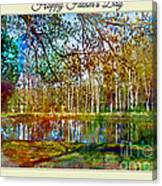Spring Pond Photoart Father's Day Canvas Print