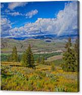 Spring Rain Across A Valley Canvas Print