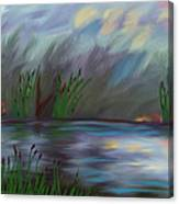 Spring Reed In The Canyon Canvas Print