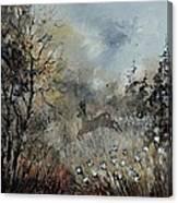 Spring Roe Deer Canvas Print