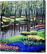 Spring Spendor Tulip Garden Canvas Print