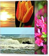 Spring Summer Collage Canvas Print