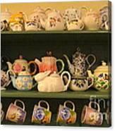 Spring Teapots  Canvas Print