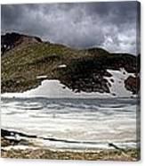 Mountain Lake Spring Thaw Canvas Print