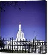 Spring Time At The Idaho Falls Temple Canvas Print