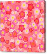 Spring Time Cherry Blossom Seamless Tile Background Canvas Print