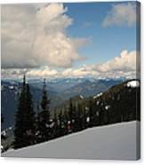 Spring Time Skiing At Crystal Canvas Print