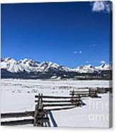 Spring View Of The Sawtooth Mountains Canvas Print