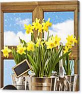 Spring Window Canvas Print