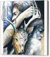 Springs Eternal Love Affair With The Ice Prince Canvas Print