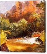 Springs In The Desert Canvas Print