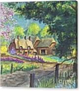 Springtime Cottage Canvas Print