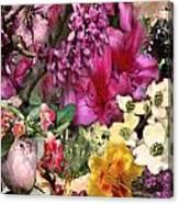 Springtime In Zebulon Left Canvas Print