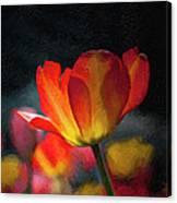 Springtime Tulips Digital Painting Canvas Print