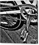 Sprocket And Chain - Black And White Canvas Print