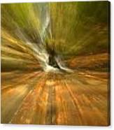 Spruce Flats Falls Explosion Canvas Print