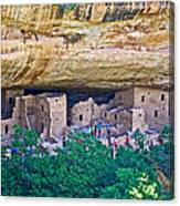 Spruce Tree House On Chapin Mesa In Mesa Verde National Park-colorado  Canvas Print