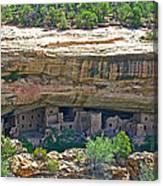 Spruce Tree House Pueblo On Chapin Mesa In Mesa Verde National Park-colorado Canvas Print