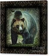 Sq Grizz 6k X 6k Grn Gold Wd2 Canvas Print