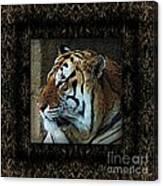 Sq Tiger Profile 6k X 6k Bboo Matt Canvas Print