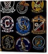 Squadron Patch Collage Canvas Print