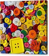 Square Button Canvas Print