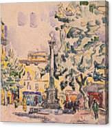 Square Of The Hotel De Ville Canvas Print