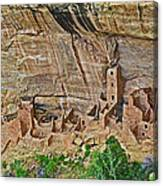 Square Tower House On Chapin Mesa Top Loop Road In Mesa Verde National Park-colorado Canvas Print