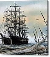 Squarerigger Cove Canvas Print
