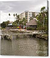 Squid Lips Restaurant  At The Eau Gallie Causeway Over The India Canvas Print