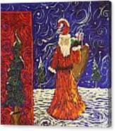 Squiggle Christmas Canvas Print