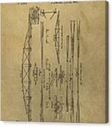 Squire Whipple Truss Bridge Patent Canvas Print